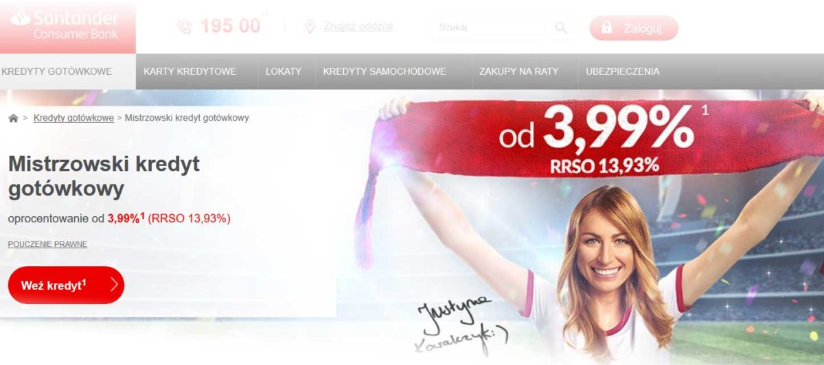 Kredyt gotówkowy Santander Consumer Bank